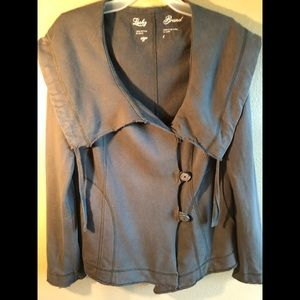 LUCKY Army Green Cargo Utility Button Jacket Large